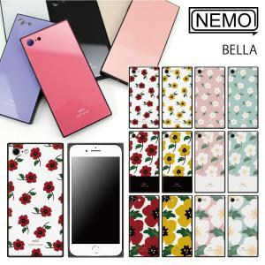 iPhone11 ケース スクエア iPhone11Pro ケース iPhone8 ケース iPhone XR ケース iPhone 11ProMax XS XSMax X 7 8Plus 7Plus ケース ガラス 花柄 NEMO|advan