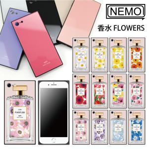 iPhone11 ケース 韓国 iPhone SE ケース iPhone8 ケース iPhoneケース iPhone11Pro ケース iPhone7 ケース iPhone SE2 ケース ガラス スクエア 花柄 NEMO advan