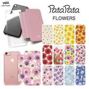 iPhone11 ケース 手帳型 iPhone8 ケース iPhone 11 Pro XS X 7 8Plus 7Plus 6s 6 6sPlus 6Plus ケース カード収納 クリア 花柄 PataPata|advan