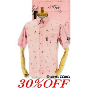 ●こちらは、シナコバメンズ2019春夏新作商品の半袖シャツです。 ●夏に着たくなる総柄シャツはイカリ...