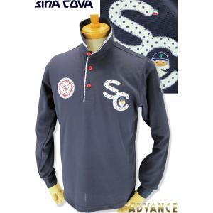 ●こちらは、シナコバメンズ2019春夏新作商品の長袖ポロシャツです。 ●衿がドット柄でめっちゃお洒落...