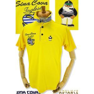 ●こちらは、シナコバメンズ2019春夏新作商品の半袖ポロシャツです。 ●マリンボーダーのロゴが夏の爽...