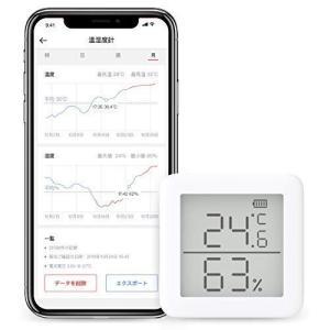 SwitchBot スイッチボット デジタル 温湿度計 スマート家電 スイス製センサースマホで温度湿...