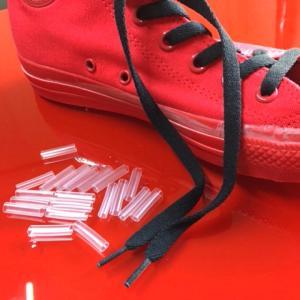 シューレースパイプ 直径5mm 長さ20mmの20本セット 熱で収縮する チューブパイプ 靴ヒモの長さ調整に 送料無料|advanceworks2008