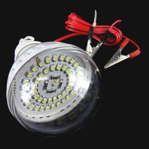 12V キャンピング ライト 48LED 搭載 6000kSMD球 ワニグチクリップで簡単使える advanceworks2008