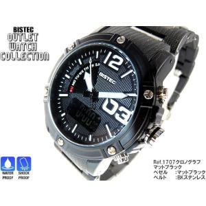 BISTEC デジタル腕時計デカ顔  文字盤ホワイト/マッドブラック 得トク2WEEKS0528|advanceworks2008