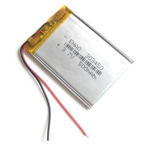 リチウムポリマー バッテリー 3.7v 500mAh 303450 Li-Po電池 ドローンやウォークマンの交換バッテリーに|advanceworks2008