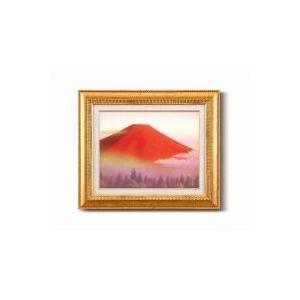 (送料無料)徳田春邦油絵額F6金 「赤富士」 1102840|advanceworks2008