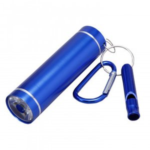(送料無料)ホイッスル付LED懐中電灯 ブルー|advanceworks2008