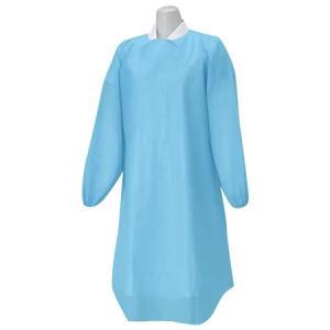 (送料無料)ハクゾウメディカル プラスチックガウン 袖付ディスポーザブルエプロン ゴム袖タイプ フリーサイズ 12枚入 3087539|advanceworks2008