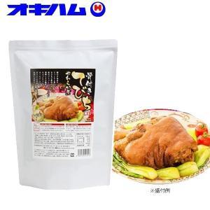 (送料無料)(代引き不可)沖縄ハム(オキハム) 骨付きてびち柔らか煮(豚のすね足煮込) 業務用 1.3kg×6個セット 13070203|advanceworks2008