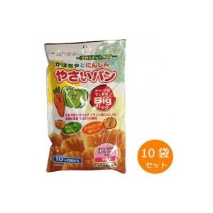 (送料無料)(代引き不可)カネ増製菓 かぼちゃとにんじんのやさいパン 88g×10袋セット|advanceworks2008