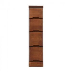 (送料無料)(代引き不可)クライン サイズが豊富なすきま収納チェスト ブラウン色 4段 幅20cm|advanceworks2008