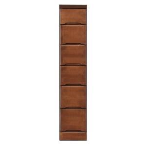 (送料無料)(代引き不可)クライン サイズが豊富なすきま収納チェスト ブラウン色 6段 幅25cm|advanceworks2008