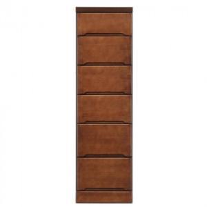 (送料無料)(代引き不可)クライン サイズが豊富なすきま収納チェスト ブラウン色 6段 幅35cm|advanceworks2008