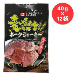 (送料無料)(代引き不可)谷貝食品工業 麦富士ポークジャーキー 40g×12袋|advanceworks2008