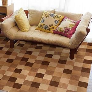 (送料無料)貼ってはがせる!床用 リノベシート 丸木 90cm×180cm Br(ブラウン) REN-10|advanceworks2008
