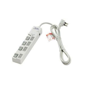 (送料無料)ELPA(エルパ) 耐雷サージ LEDランプ スイッチ付タップ(ブレーカー付・上差し) ...
