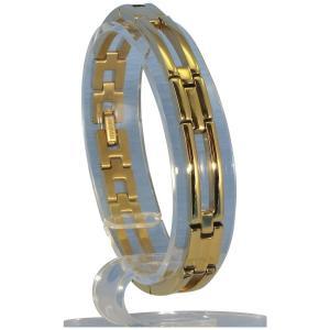 (送料無料)MARE(マーレ) ゲルマニウム4個付ブレスレット GOLD/IP ミラー 110G L (19.5cm) H9246-08L|advanceworks2008
