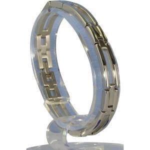 (送料無料)MARE(マーレ) ゲルマニウム4個付ブレスレット PT/IP ミラー 112G L (19.5cm) H9246-07L|advanceworks2008