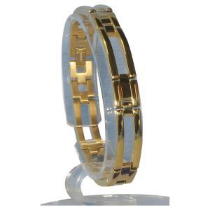 (送料無料)MARE(マーレ) ゲルマニウム4個付ブレスレット GOLD/IP ミラー 111G S (18.5cm) H1126-06S|advanceworks2008