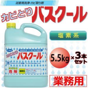 (送料無料)(代引き不可)業務用 浴室用洗浄・カビ取り剤 カビとりバスクール 5.5kg 3本セット 234035 advanceworks2008