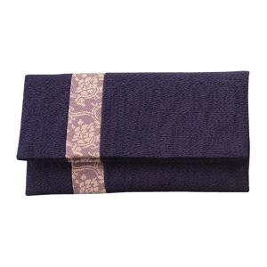 (送料無料)正絹 名物裂 タテハギ付 念珠袋 牡丹唐草/紫 802-1|advanceworks2008