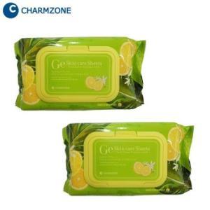 (送料無料)韓国コスメ チャームゾーン Ge スキンケアシート フレッシュシトラスプレミアムモイスト 120枚(1包60枚×2個)セット FCPM12|advanceworks2008