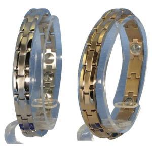 (送料無料)MARE(マーレ)ブレスレット 0.8cm×19.5cm IPミラー・マット ゲルマニウム16個付|advanceworks2008