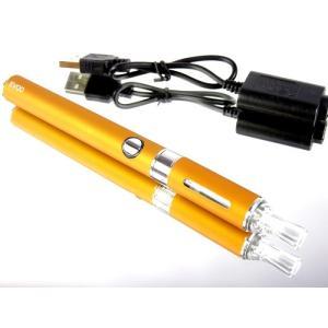 充電式電子タバコ 本体 のみ オレンジ 禁煙グッズ 液体リキッドで水蒸気の煙 節煙 減煙|advanceworks2008