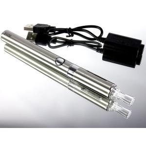 充電式電子タバコ 本体 のみ メタリックシルバー 禁煙グッズ 液体リキッドで水蒸気の煙 節煙 減煙|advanceworks2008