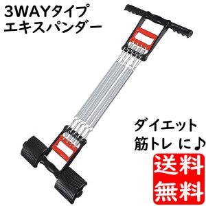 3WAY エキスパンダー 筋トレ 1台で 胸筋 背筋 握力 が鍛えられる|advanceworks2008