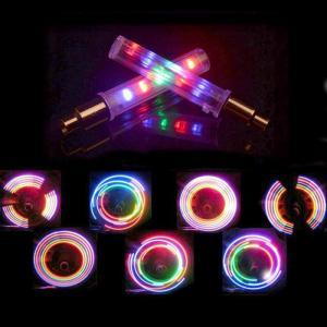 自転車 バイク 用 スイッチ付 LEDホイールバルブフラッシュ 2本セット 米式対応 強烈 5LEDで7パターン点滅点灯 夜間安全に|advanceworks2008