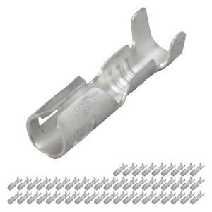 丸型ギボシ端子 メス 50個セット|advanceworks2008