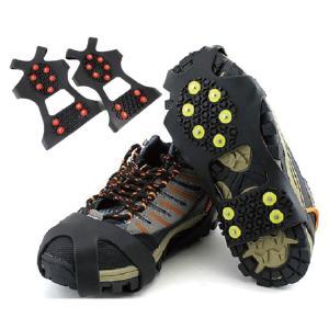 スノースパイク 靴にかんたん装着 靴底用滑り止め転倒防止 アイゼン スパイク