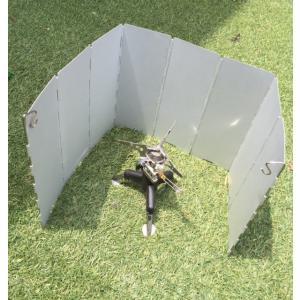効率よい焚き火の為に ウィンドウスクリーンワイド パネル8枚 ペグ ケース付|advanceworks2008