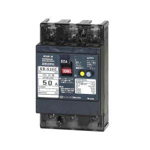 テンパール工業 漏電遮断器 GB-53EC 3P3E 50A(11kw) 15mA 50AF ELB 53EC5015|adwecs