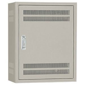 日東工業 B12-45L 熱機器収納キャビネット 木製基板付 ライトベージュ塗装|adwecs