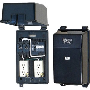 納期:1-3日 漏電遮断器付・防滴ボックス 仮設用コンセントボックス GT-PK 屋外兼用 組込漏電...
