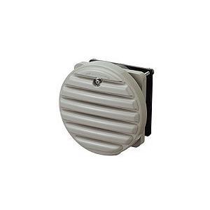 日東工業 WLP-12KA ライトベージュ・AC100V 換気扇付丸形防水ルーバー・フィルタ付|adwecs