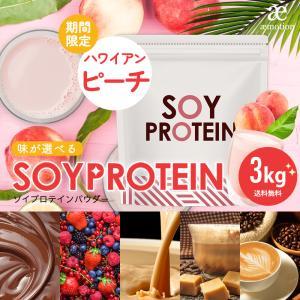 ( ソイプロテイン チョコレート味 3kg )500g×6袋 ≪スプーン付≫ プロテイン 美容 ダイエット 大豆 スポーツ 大容量 アミノ酸 送料無料 ギフト|aemotion