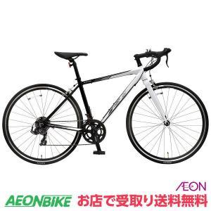 【お店受取り限定】KAGRA (カグラ) R-1-K ロードバイク 430mmサイズ ブラック/ホワイト 700C 外装14段変速 aeonbike