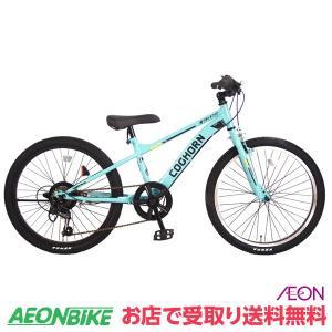【お店受取り送料無料】コグホーンスポーツA ライトグリーン 外装6段変速 22型 子供用自転車