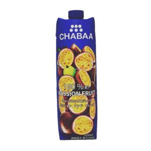 CHABAA(チャバ)100%ミックスジュース パッションフルーツアンドグレープ 1000ml