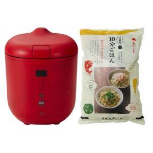 炊飯器PODDI レッド+炊き込みご飯セット 神明きっちん|aeonkyushu-umaimono