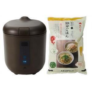 炊飯器PODDI ブラウン+炊き込みご飯セット 神明きっちん|aeonkyushu-umaimono