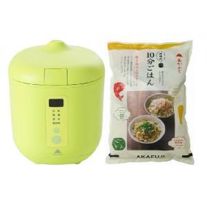 炊飯器PODDI グリーン+炊き込みご飯セット 神明きっちん|aeonkyushu-umaimono