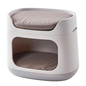 猫 多頭用ベッド ドームベッド クッション 二段ベッド バンクベッド キャリーバッグになるハウス 犬...