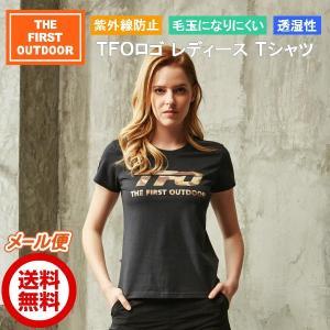 Tシャツ 迷彩 ロゴ 黒 レディース S-XXL  半袖 透湿 春 夏 The First Outdoor アウトドアウエア TFO-613750|aetonyx