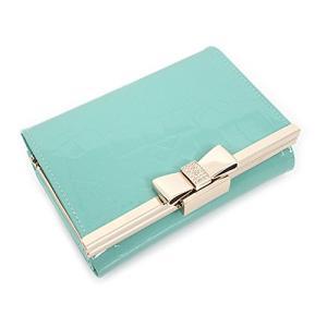【レディース財布】 middle wallet 二つ折り財布 牛皮 レザー (Mint)|afan-mori